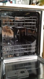 Inside of Stainless Steel Dishwasher
